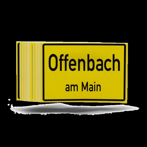 "Aufkleber ""Stadtschild"""